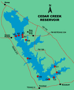 Find waterfront homes listed for sale in cedar creek lake for Cedar creek lake fishing