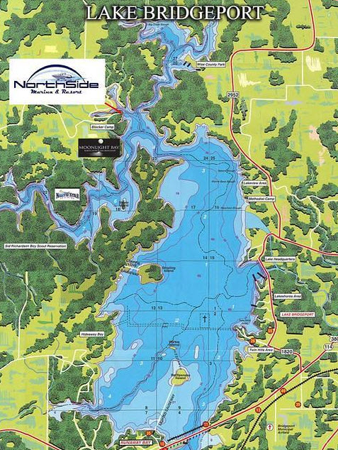 Find waterfront homes listed for sale in lake bridgeport for Fishing spots in dallas