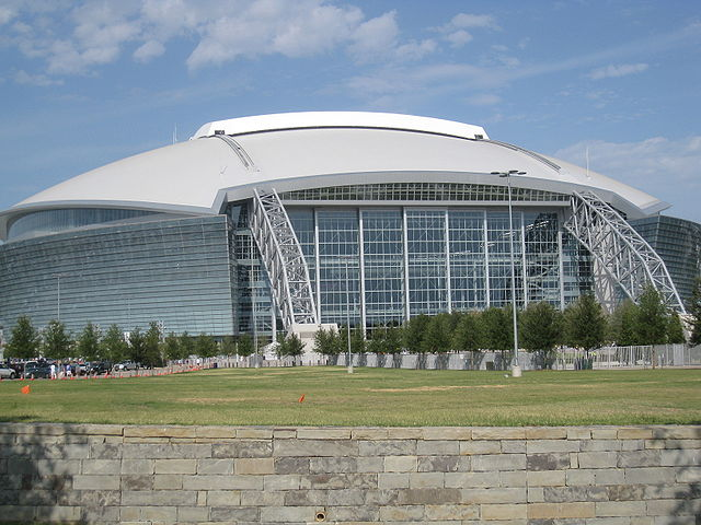AT&T Stadium - Image Credit: https://en.wikipedia.org/wiki/File:Cowboys_stadium.JPG