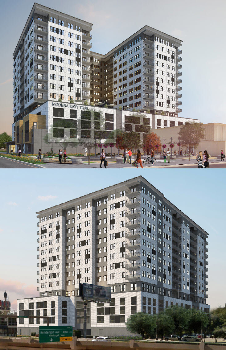 Modera Katy Trail Highrise Apartments in Uptown Dallas