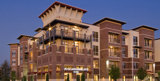 Alta Lakeshore lofts in Las Colinas at 800 Lake Carolyn Pkwy