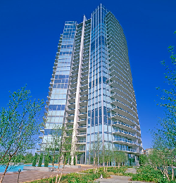 The Azure high rise condos at 2900 McKinnon in Uptown Dallas