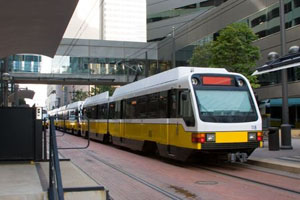 Light Rail Train - Downtown Dallas