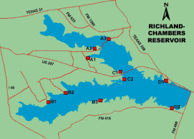 Richland-Chambers Lake Waterfront Homes & Lakehouses For Sale