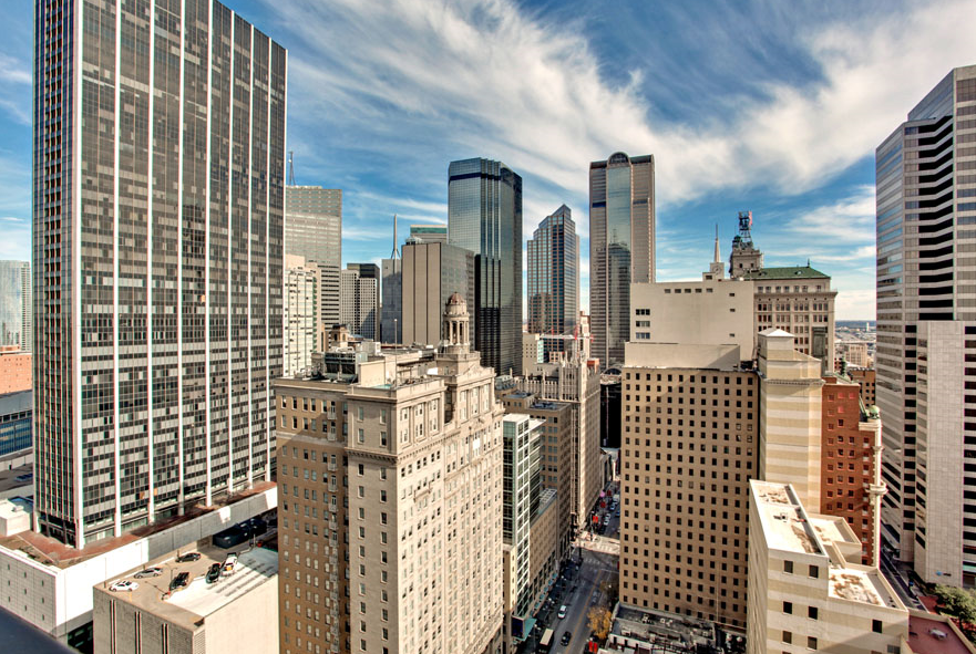 The Metropolitan High Rise Condos in Downtown Dallas at 1200 Main Street