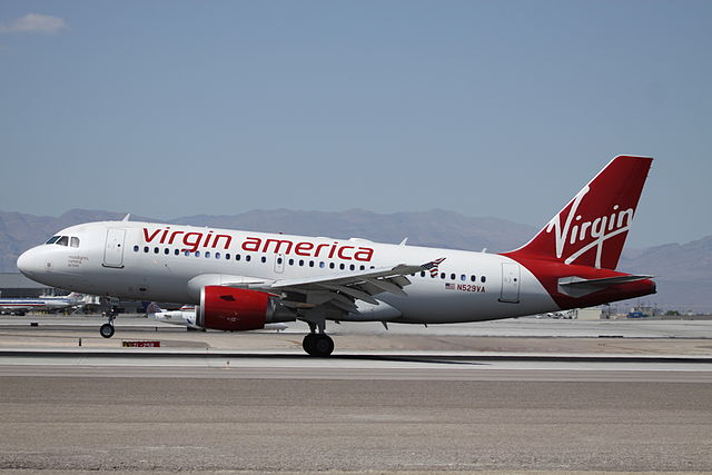 Virgin America - Image Credit: https://en.wikipedia.org/wiki/File:N529VA_Airbus_A.319_Virgin_America_(9067583712).jpg